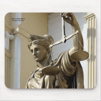 Dame Justice Statue, de Stad van Virginia, Nevada Muismat