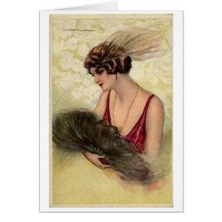 Dame met een Ventilator van de Veer, Briefkaarten 0
