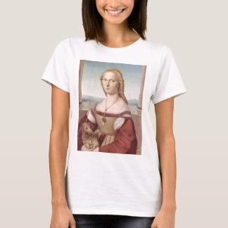 Dame met Raphael Santi van de Eenhoorn T Shirt