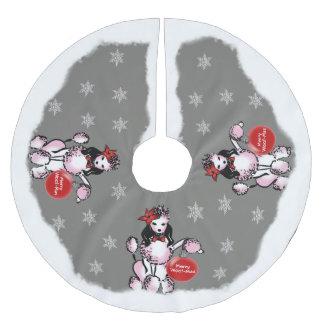 Dame Poodle Kerstboom Rok