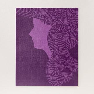 Dame Purple Puzzel
