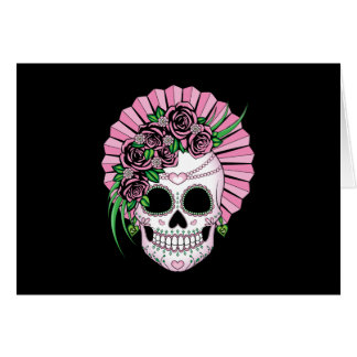 Dame Sugar Skull Briefkaarten 0