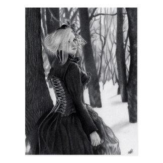 Dame van de Briefkaarten van de Winter