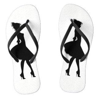 Dame van de schoenen teenslippers