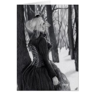 Dame van Gotische Steampunk Dame van de Winter Briefkaarten 0