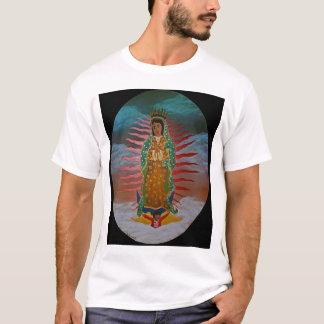 Dame van Guadalupe (blauwe tint) met zwarte grens T Shirt