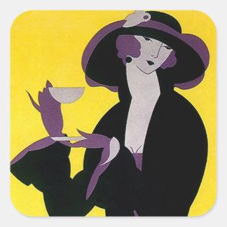 Dame van het Vintage van de Middag van de sticker