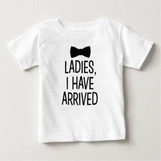 Dames ben ik het nieuwe overhemd van de babyjongen baby t shirts