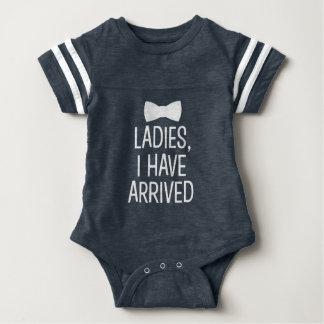 Dames ben ik het nieuwe overhemd van de babyjongen romper