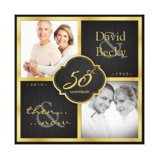 Dan en nu het 50ste Jubileum 2015 van het Huwelijk Canvas Afdrukken