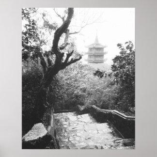 Danang Vietnam, de Marmeren Berg van het Uitzicht  Poster