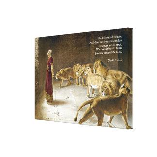 Daniel in het Heilige Schrift van de Kunst van de Canvas Print