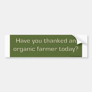 Dank een organische sticker van de landbouwersbump