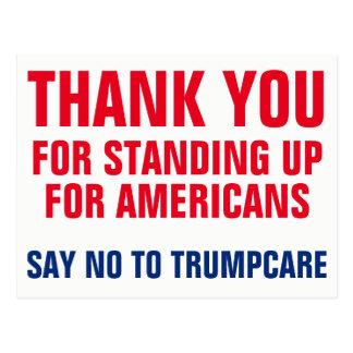Dank u aan het Zeggen van nr aan Trumpcare AHCA Briefkaart