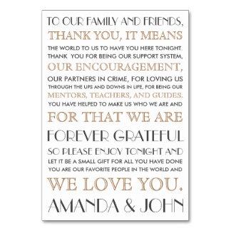 Dank u aan huwelijksgasten kaart