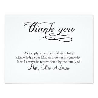 Dank u Begrafenis danken u nota nemen van Kaart