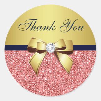 Dank u Boog van de Diamanten van de Marine van de Ronde Stickers