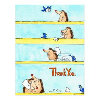 DANK U briefkaart door Nicole Janes
