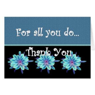 DANK U de BLAUWE BLOEMEN van de Dag van Beroeps Briefkaarten 0