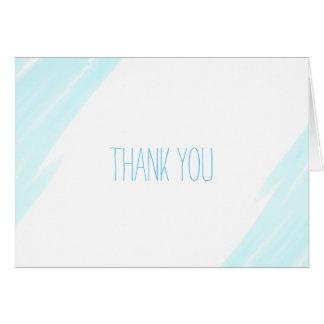 Dank u de Blauwe Waterverf van de Kaart van het