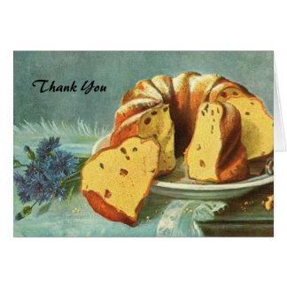 Dank u - de Cake van de Koffie voor Bedrijf - Kaart