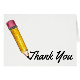 Dank u de Gele #2 Opvoeder van de Leraar van de Briefkaarten 0