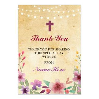 Dank u de Godsdienstige Heilige Dwars BloemenKaart Kaart