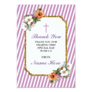Dank u de Godsdienstige Roze BloemenKaarten van de Kaart