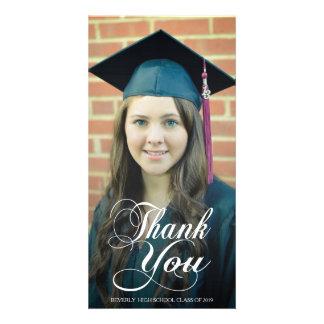 Dank u de Kaarten van de Foto van de Afstuderen va Fotokaart Sjabloon