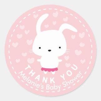 Dank u de Roze Sticker van het Konijntje van