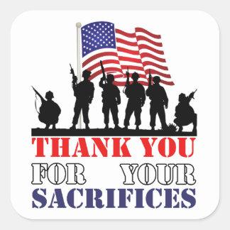 Dank u de Stickers van de Dag van de Veteranen van