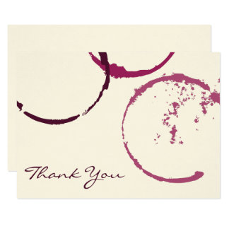 Dank u de Vlakke Kaarten van de Nota | Ringen van 8,9x12,7 Uitnodiging Kaart