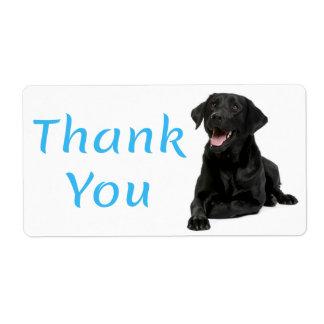 Dank u de Zwarte Sticker van de Hond van de