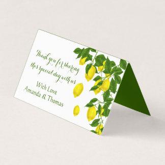 Dank u Gele Citroen en de Groene Citrusvrucht van Plaatskaart