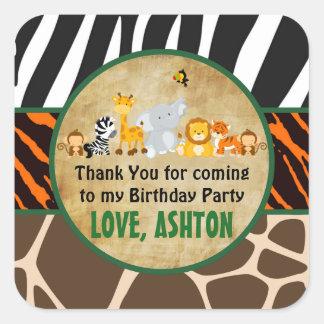 Dank u goedkeuren de Partij van de Verjaardag van Vierkante Sticker