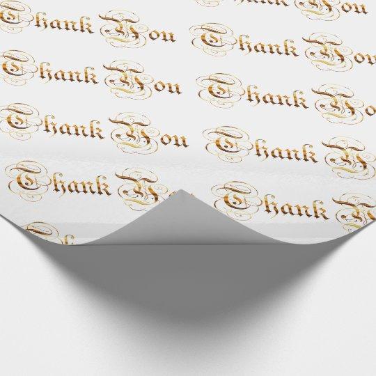 Dank u. gouden tekst cadeaupapier