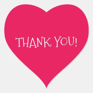 Dank u hart-Gevormde Sticker