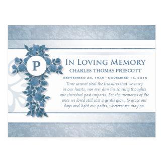 Dank u het Blauwe Bloemen DwarsBriefkaart van de Briefkaart