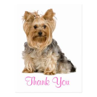 Dank u het Briefkaart van de Hond van het Puppy va Wenskaart