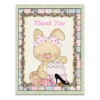 Dank u het Briefkaart van het Konijntje Girly
