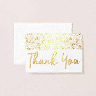 Dank u het Gouden BloemenPatroon van de Kaart van