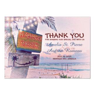 Dank u het Huwelijk van het Strand van de 11,4x15,9 Uitnodiging Kaart
