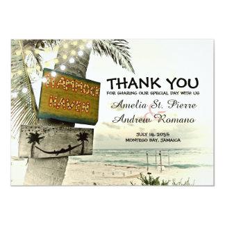 Dank u het Huwelijk van het Strand van de Kaart