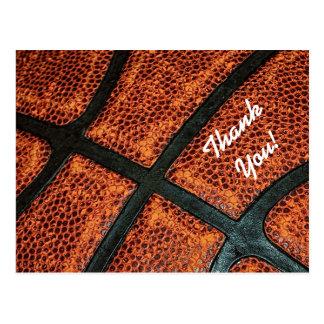Dank u het Oude Retro Patroon van het Basketbal Briefkaart