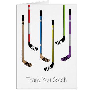 Dank u het Wenskaart van de Stokken van het Hockey