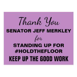 Dank u #HoldTheFloor van Senator Merkley verzetten Briefkaart