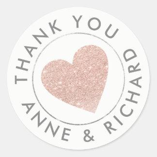 dank u/huwelijksgunst toenam ronde sticker