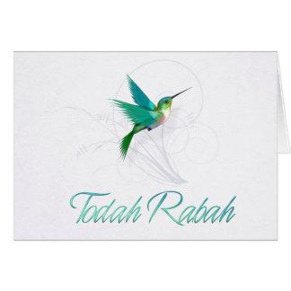 Dank u in de Hebreeuwse Kolibrie van Rabah ~ van Kaart