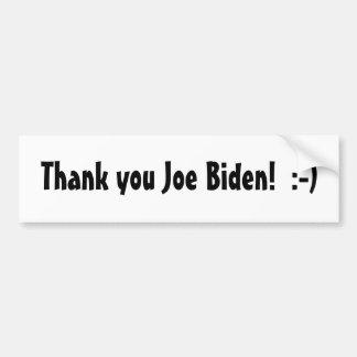 Dank u Joe Biden! Bumpersticker