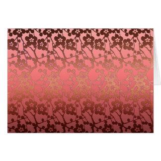 Dank u kaarden goud van het patroon het roze briefkaarten 0